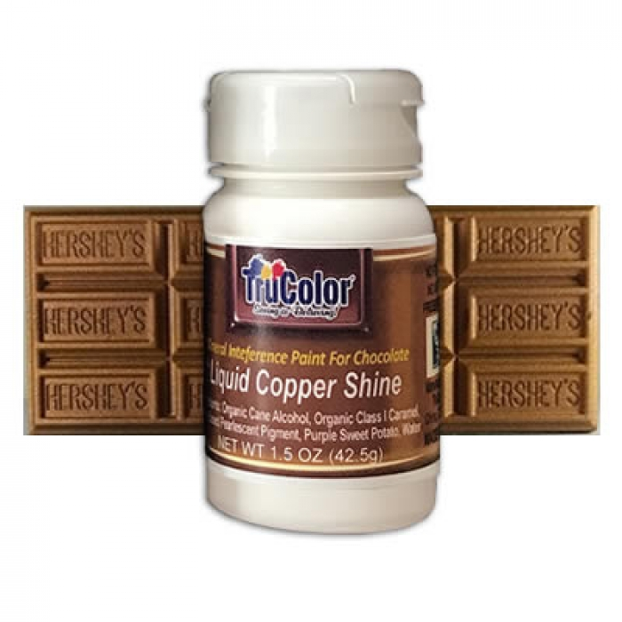 TruColor™ Liquid Copper Shine Airbrush for Chocolate & Fondant 42.5g