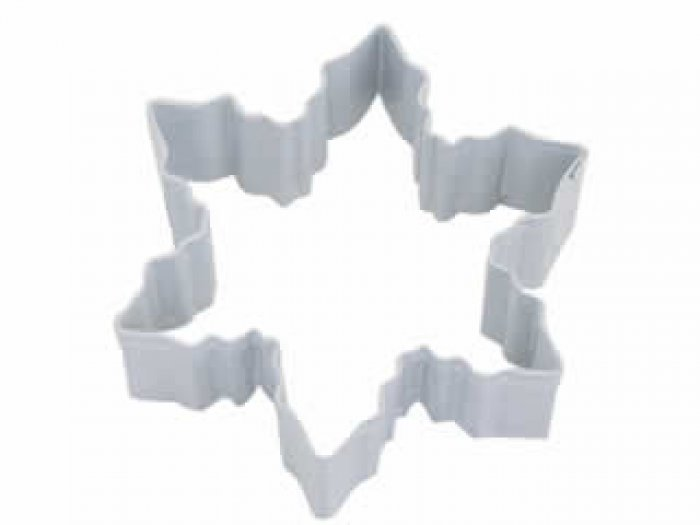 COOKIE CUTTER - Snowflake 3 WHITE Resin