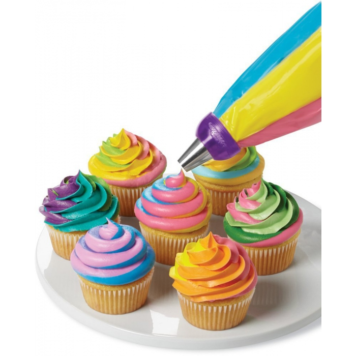 3 Colour Swirl Coupler for LARGE ICING TIPS