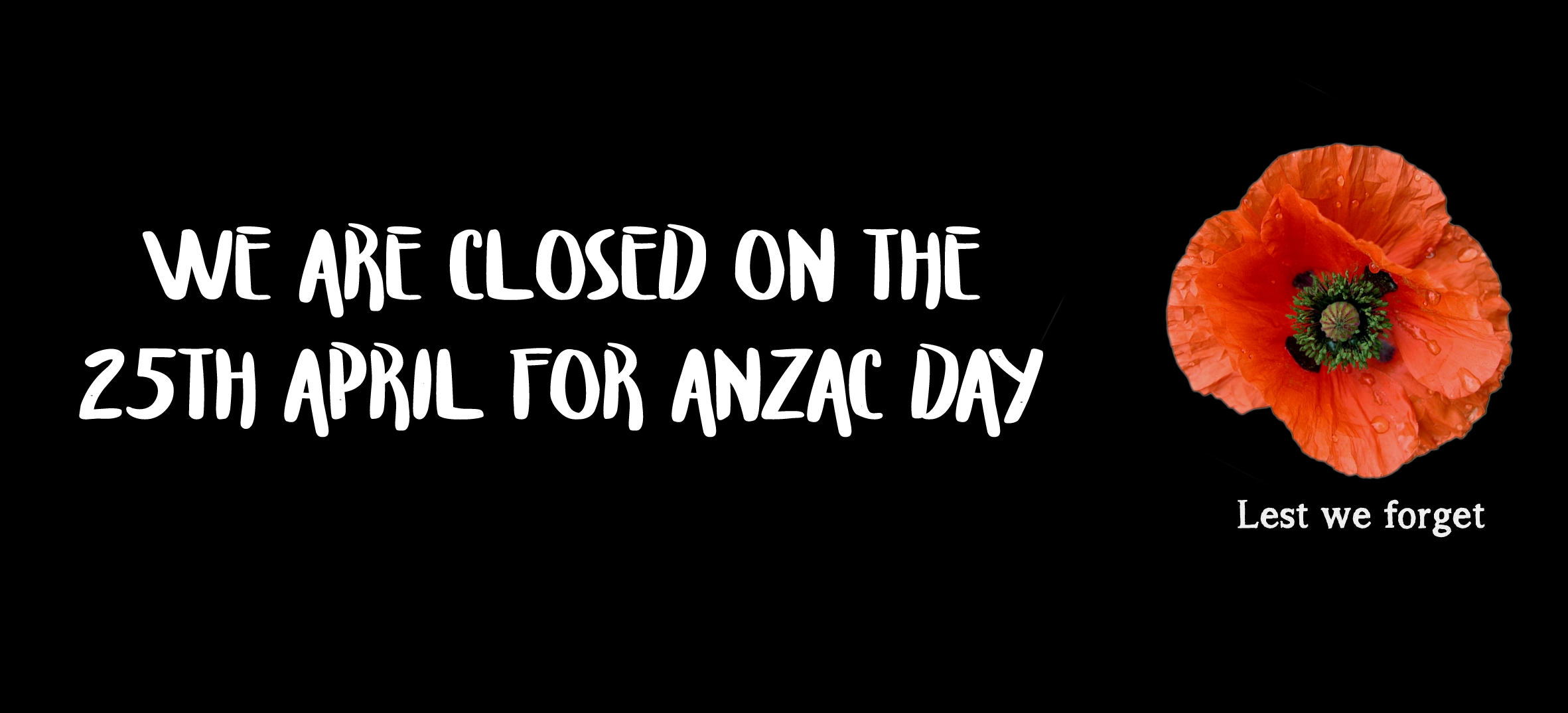 anzac day closing 2019